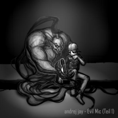 andrej jay Evil Mic (Teil 1) EP Cover Artwork AjeloDraws
