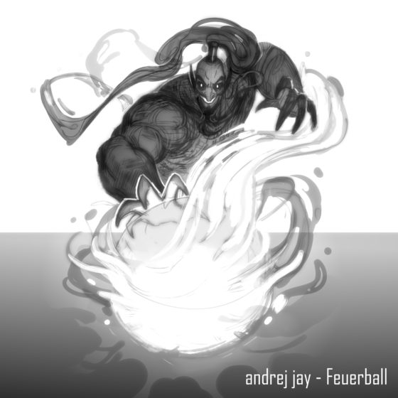 andrej jay Feuerball Artwork AjeloDraws