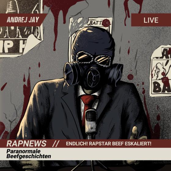 andrej jay Rapnews Paranormale Beefgeschichten Artwork by rizkiali