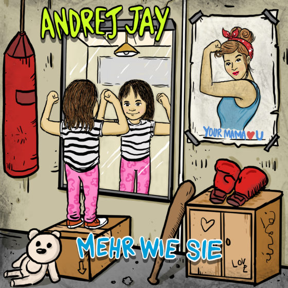 Andrej Jay Mehr wie sie Single Out Now Artwork by Aku Napie