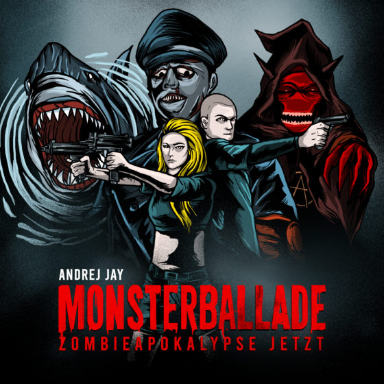 andrej jay MONSTERBALLADE out now artwork by dancubs