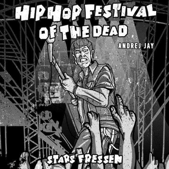 andrej jay STARS FRESSEN HipHop Festival of the Dead OUT NOW artwork by Dancubs