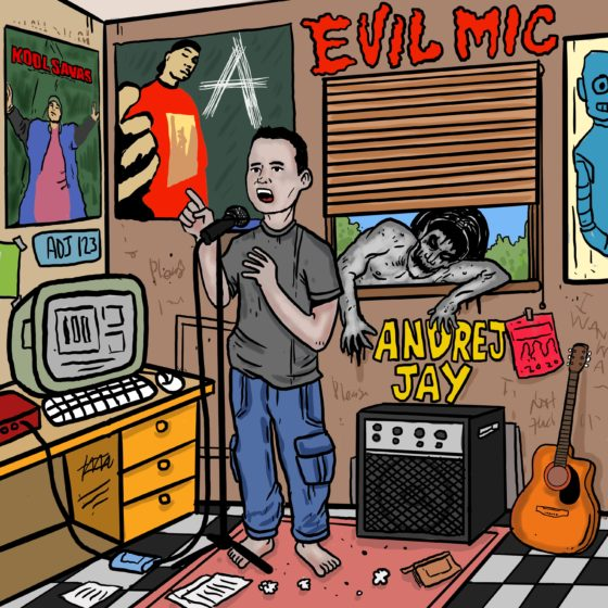 andrej jay Evil Mic LP Artwork Aku Napie
